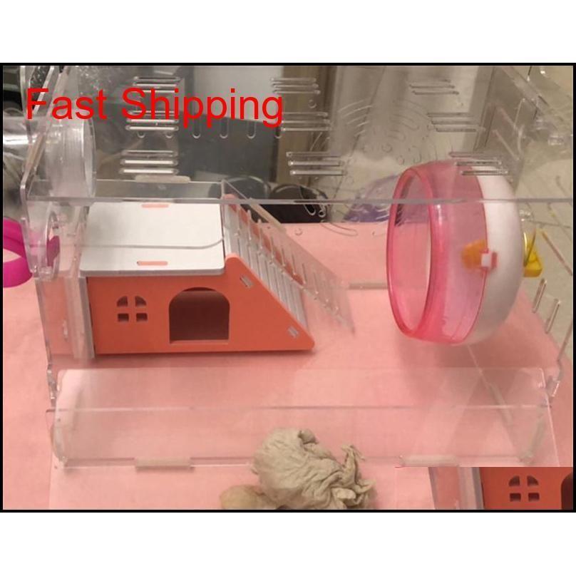 DIY Italic Small Hamster House Pet Hamster Maisons Lit Cage Nest Hérisson Château de cochon d'Inde à Qylqwt Toys2010