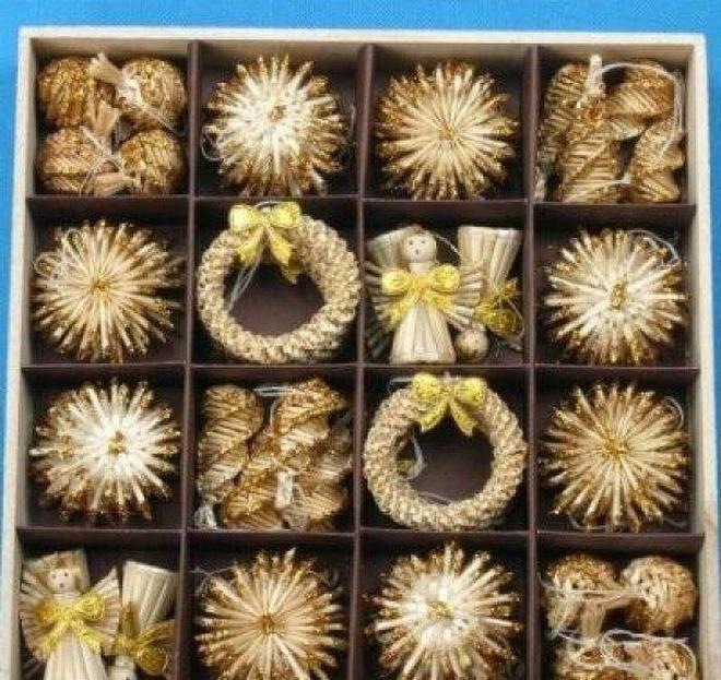 شجرة عيد الميلاد الحلي مجموعة القمح القش المنسوجة مهرجان الديكور زينة عيد الميلاد للبيع على الانترنت عيد الميلاد jlljku yeah2010