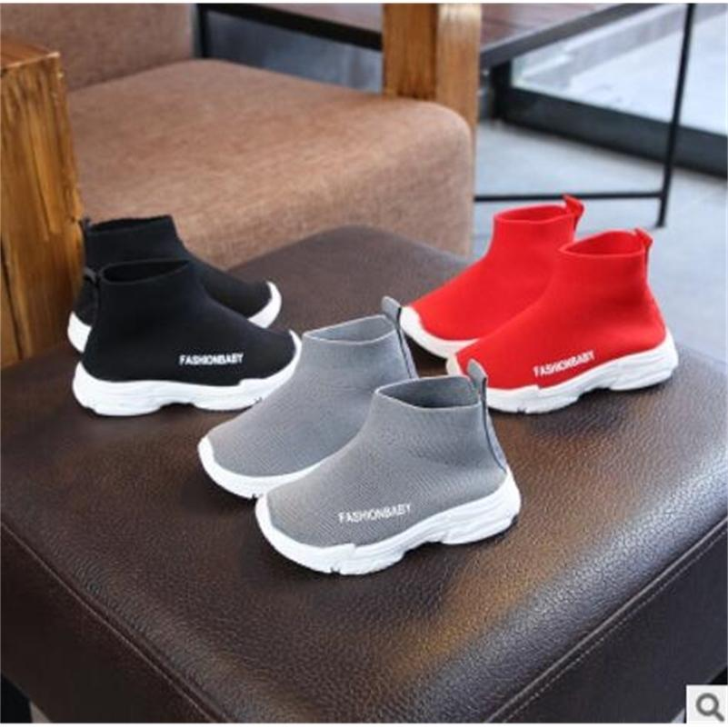 Niño Casual Hombre Mujer Bebé Sneaker High Elastic Pie Shapping Snow Martin Boots Kids Punto Calcetines Sport Zapatos Y201001
