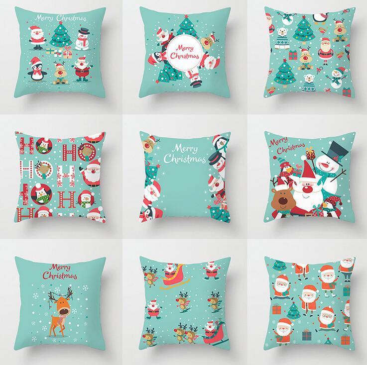 45X45CM عيد الميلاد وسادة القضية الديكور المنزلي غطاء وسادة المخدة عيد الميلاد الديكور وسادة غطاء أريكة غرفة المعيشة هدايا عيد الميلاد 2020