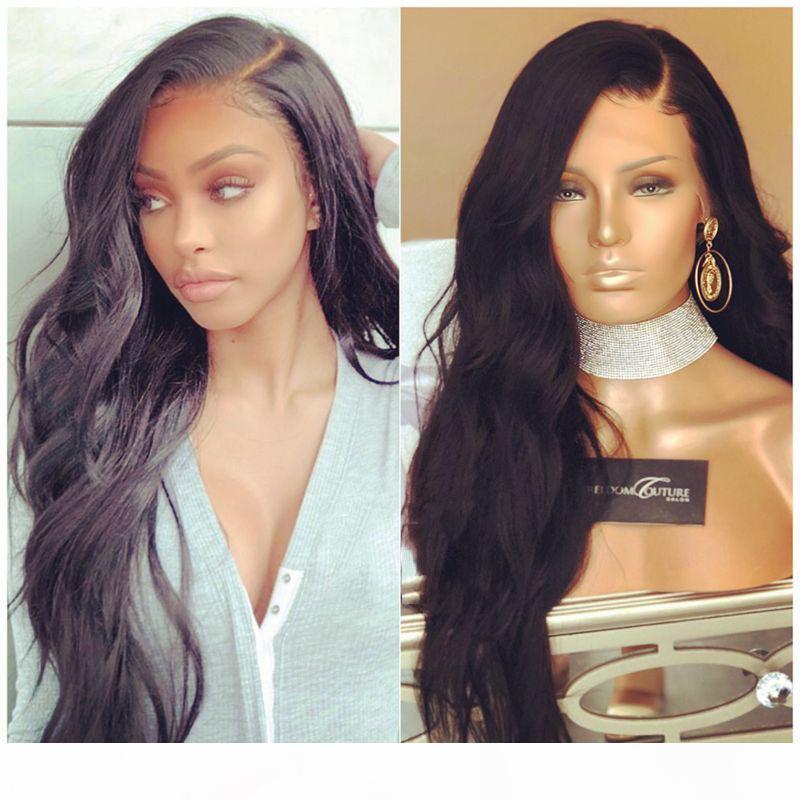 High Tailtail Human Cheveux Perruque de corps Virgin Virgin Virgin Gloupe pleine dentelle Perruques de lace de dentelle brésilienne pour femmes noires avec des cheveux de bébé