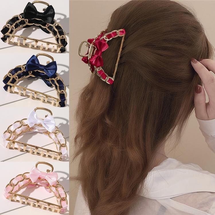 5 couleur nouvelle mode des femmes métal épingles à cheveux Simple Retro filles clips Chignon Maker cheveux Pince Outil bricolage accessoires gros
