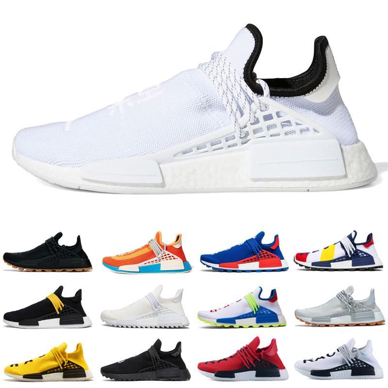 Neue Pharrell Williams Menschen Sport Outdoor Schuhe Bold Orange Chocolate Nerd Black Legacy Lila Schwarz Gelbe Männer Trainer Schuhe Größe 36-45