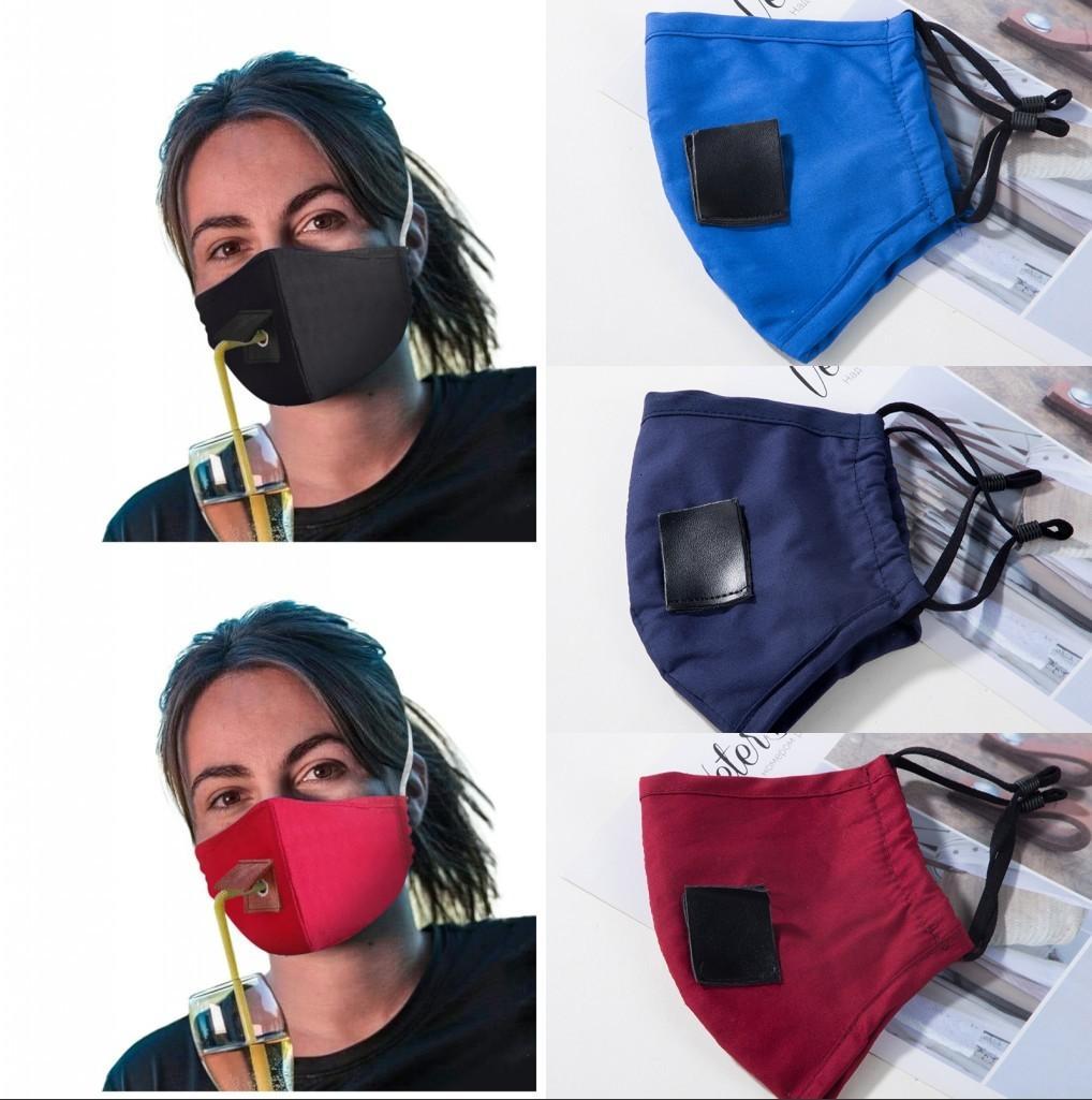 US Lager, Erwachsene Anti Pollution Nebel Cotton Mouth Straw Maske wiederverwendbare waschbare Staubdichtes Schutzgesichtsabdeckung Party-Getränk Masken FY6092