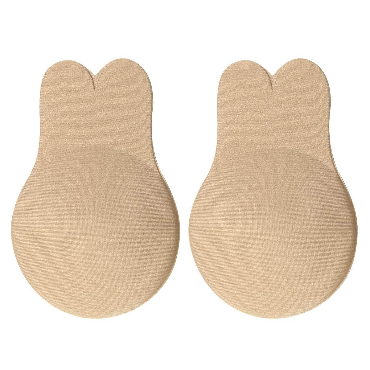 토끼 귀 가슴 패치 안티 누전 스티커 브래지어 밀기 리프트 젖꼭지 커버 접착제 strapless 보이지 않는 백리스 브래지어 플 런지 재사용 여성을 위해 재사용 가능