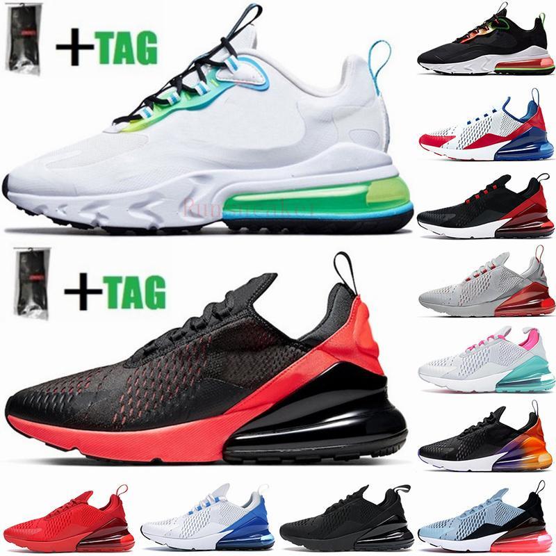 2021 جديد وسادة 270 رياضية أحذية رياضية رجالي الاحذية CNY قوس قزح كعب المدرب نجم الطريق البلاتين اليشم ولدت المرأة 27C حذاء رياضة حجم 36-45