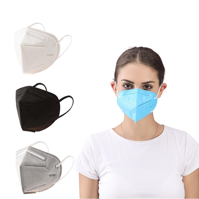 Máscaras KN95 não-tecidos descartáveis Folding Máscara Facial Máscaras Tecido Dustproof Windproof Respirador Anti-Fog Dustproof externas Transporte rápido
