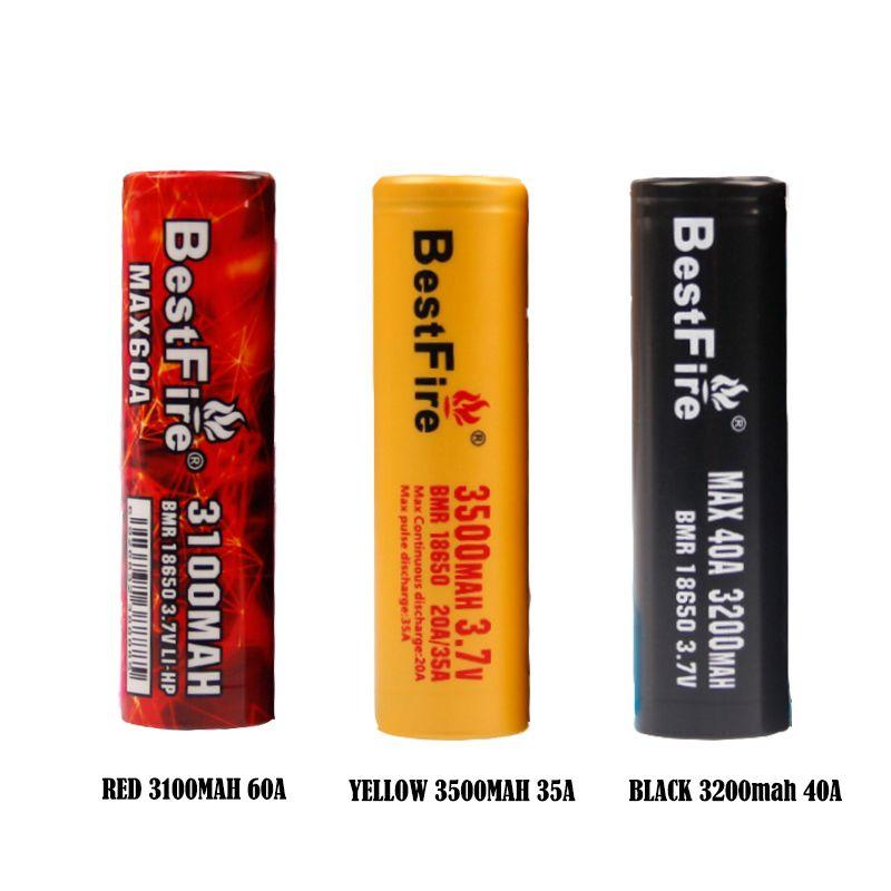 الأصلي bestfire IMR 18650 3000mAh 3100mAh 3200mAh 35a 40a 60a بطارية قابلة للشحن e cig battery bestfire imr vape البطارية