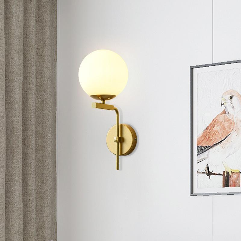 New Nordic Стеклянная Настенная Настенная Настенные Светильники Для Главная Деко Промышленное Декор Ванная Зеркало Света Внутреннее освещение E27