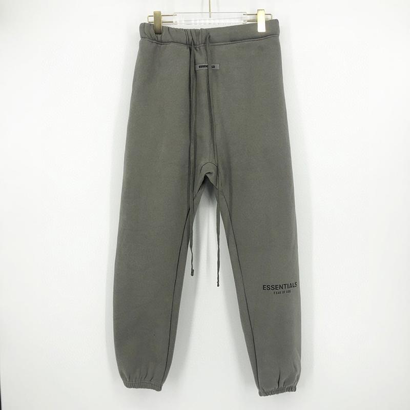 Outono Inverno EUA temor de Deus Essentials 6ª 3M reflexiva Bordados Calças Casual Nevoeiro Sweatpants Pants Homens Mulheres Jogger