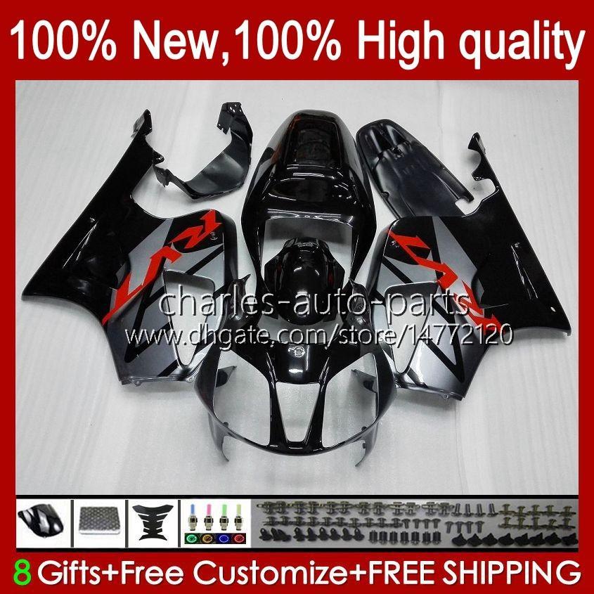VTR1000 Verkleidung für Honda VTR-1000 Grau Glossy NEU RC51 00 01 02 03 2004 2005 2006 98HC.3 VTR 1000 SP1 SP2 2000 2001 2002 2003 04 05 06 Körper