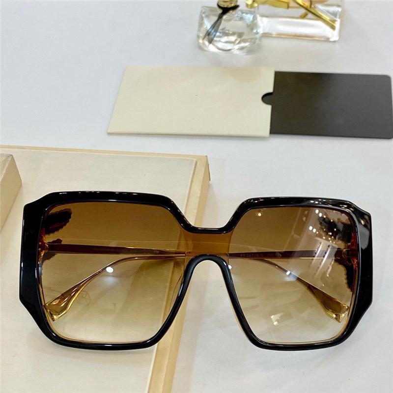 0473s Yeni Gelişmiş Bayanlar Sıcak Satış Güneş Gözlüğü Kullanımı Üst Sayfa Bacak Monocle Kare Gözlük Anti-Uv400 Lens Üst Avant-Garde Gözlük Gönderme Kutusu