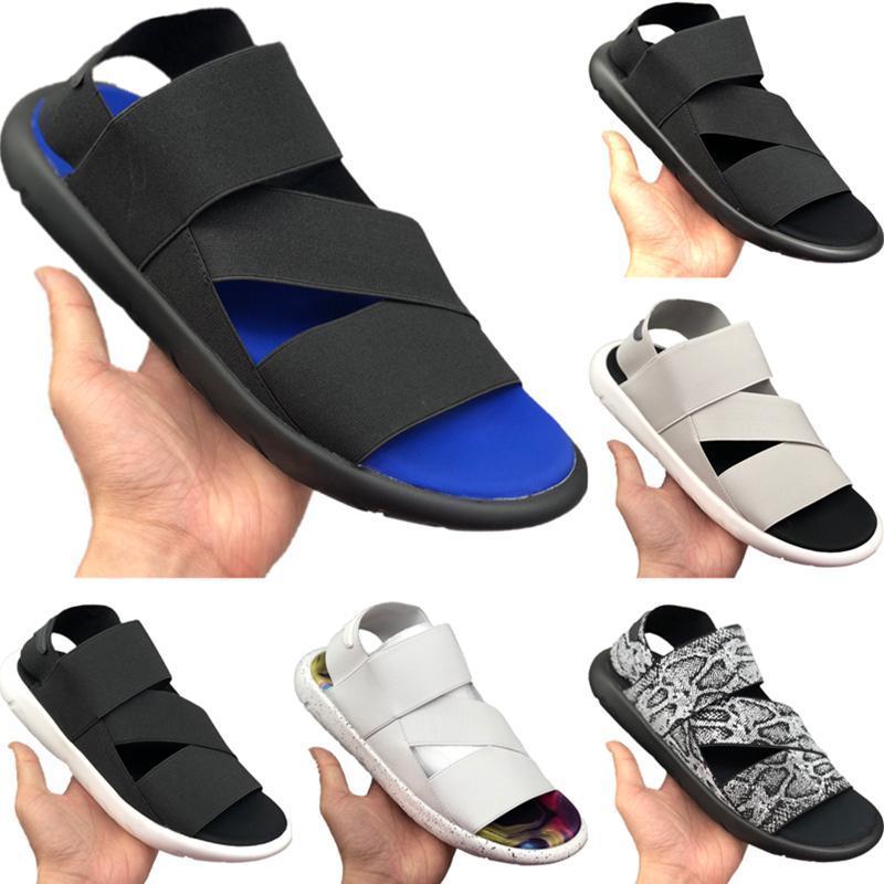 Mit Box 2020 Y3 Stretch Querverband Sport Sandalen Originals Y3 Qasa Hohl Bottom Buffer Gummi-Strand-Schuhe