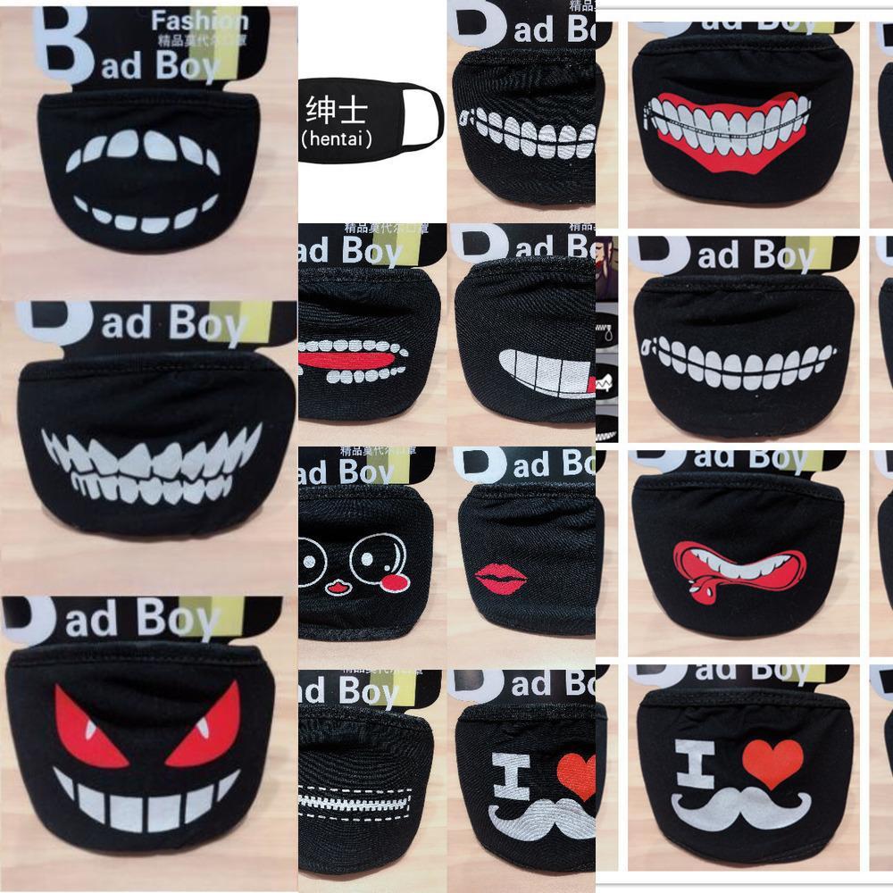 Styles Lovely Cotton Dustproof 20 Mask Anime Cartoon Kpop Lucky Bear Pig Teeth Women Men Muffle Face Mouth Masks