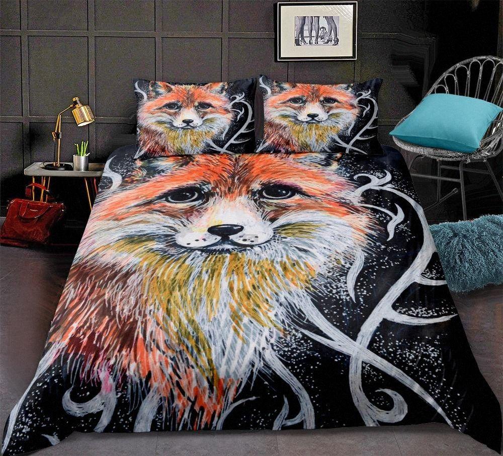 pattern Duvet cover set 3D lifelike Animal Print Bedding set soft Microfiber Black Bedspread home textiles hqU8#