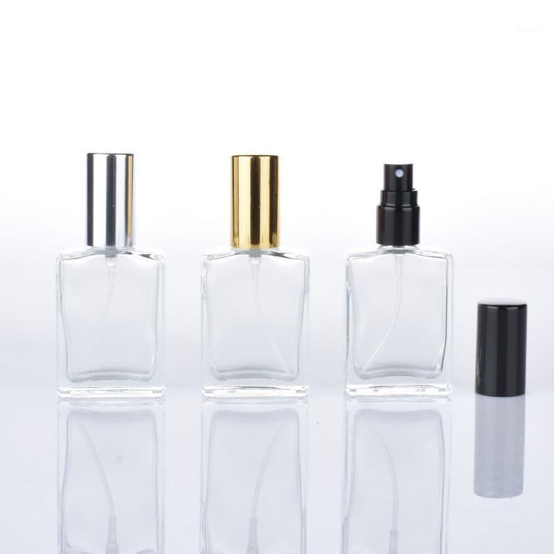 15 ml Cosmético Compacto Vacío Botella de perfume Transparente Presionado Spray Bottle Frosted Portátil Pequeño Pequeño Vidrio Square Relleno Viales1