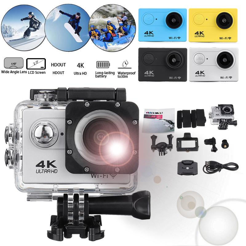 Eylem Kamera Ultra HD 4K Su geçirmez Kask Video Kaydı Kamera Spor Cam Sualtı WiFi 2.0 170B 30fps