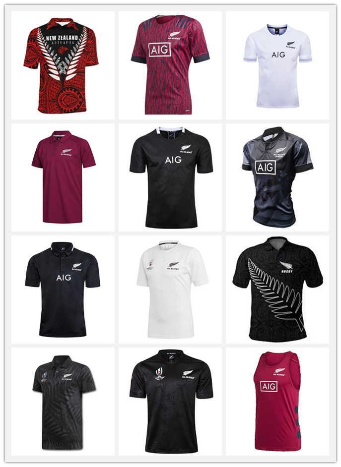 Maori Rugby Jersey Noruega Kiwis 19 20 Dünya Kupası Kısa Kollu Eğitim Takım Elbise Gömlek Boyutu S-5XL