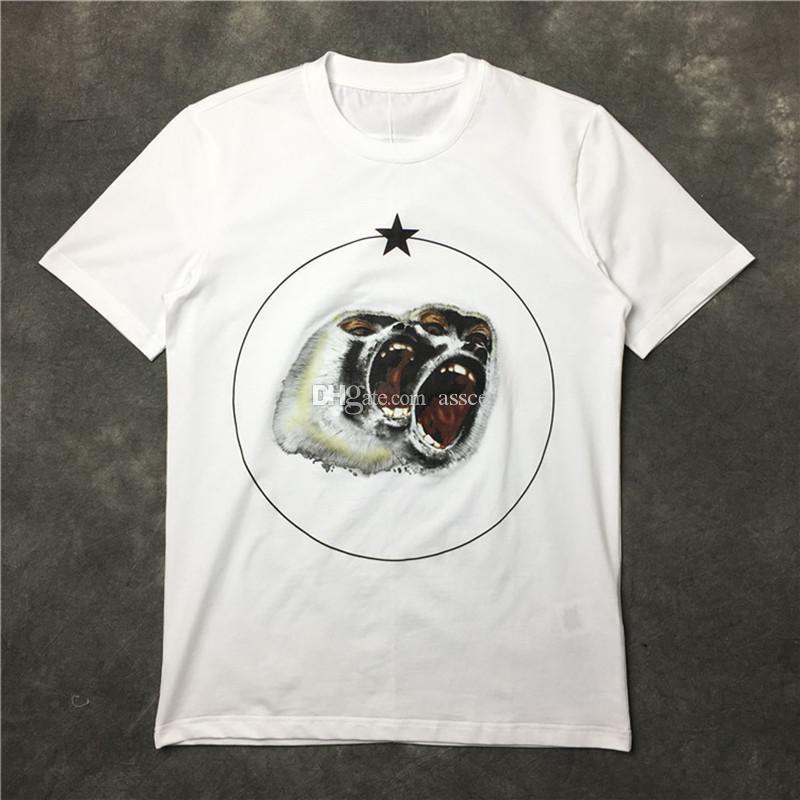 Новые летние мужчины стилист футболка одежда с коротким рукавом футболка ревранс орангутан обезьяна круг звезда футболка унисекс тройник хлопковые топы
