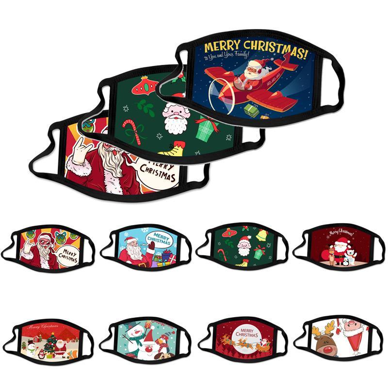 Fashion Christmas Adult Kid Gesichtsmasken gedruckte Weihnachtsgesichtsmasken Antistaub-Nebel Schneeflocke Mundschutz atmungsaktiv Waschbar Wiederverwendbare