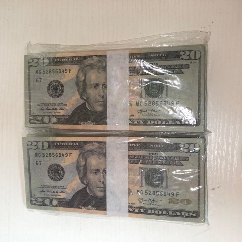 Grossiste Donnée Document Papiers 100 Pièces de l'atmosphère / Forfait Bar d'usine Props Dollar Qualité Américaine Haute Expédition 20-2 Nuavg HXKXN