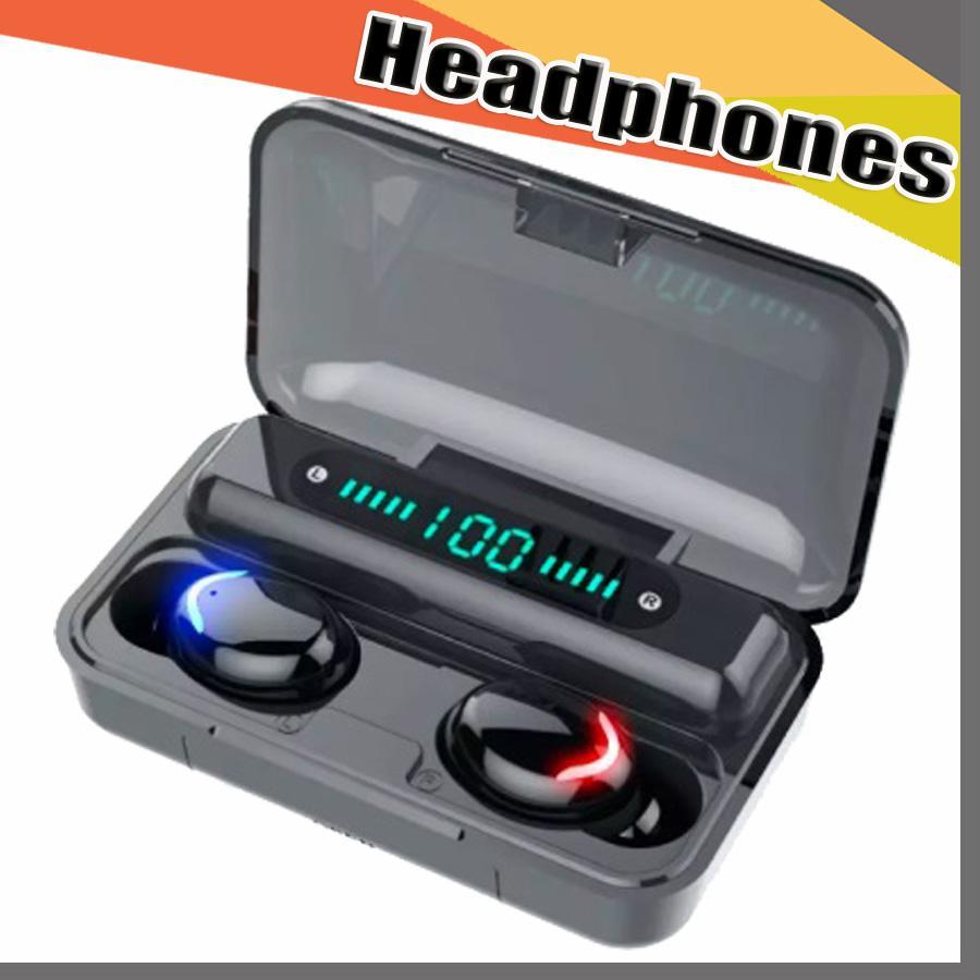 F9 5C 블루투스 5.0 이어폰 무선 헤드폰 블루투스 이어폰 핸즈프리 헤드폰 스포츠 이어 버드 게임 헤드셋 VS F9 168D