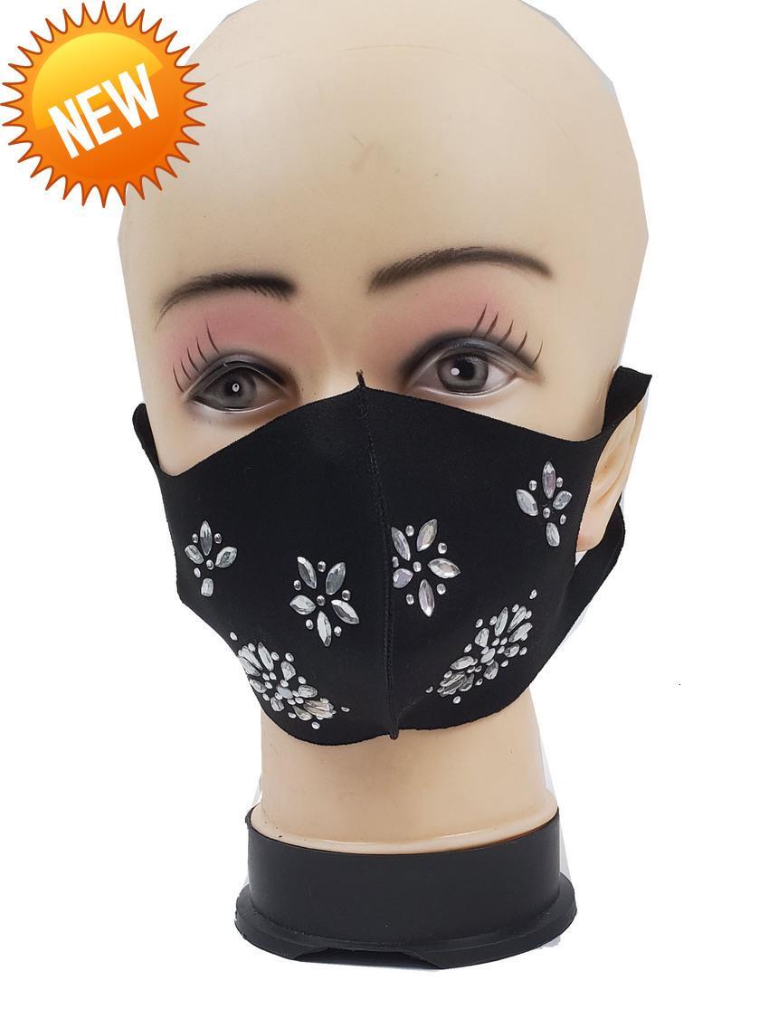 Алмазная звезда черная моющаяся мода ткани езда маска DLS9