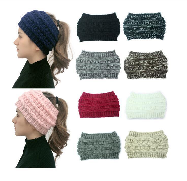 Ambientazione a maglia all'uncinetto Ambientini invernali Sport invernali Hairbands Turban Yoga Head Band Auricolari Muffs Cap Fascia Fascia per feste YW12