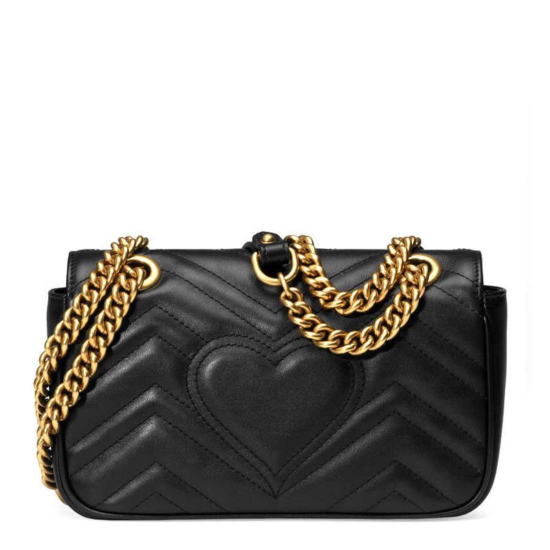 Großhandel Marmont 2020 Crossbody Luxurys Taschen Hot Love Womens Handtaschen Dame Solding Wavy Designer Designer Schulter Original Tasche Leder Donl