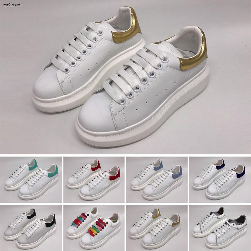 2020 Velvet Weiß Damen 3M Reflective Mens schnüren sich oben Plattform-beiläufige Schuh-Volltonfarben Trainer Schuh Chaussures