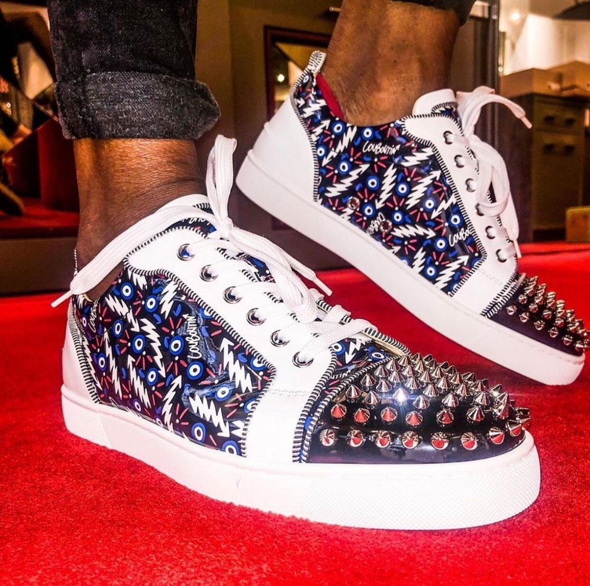Düşük Üst Spike Genç Sneakers Düz, Zarif erkek Kırmızı Alt Ayakkabı T-Kalite Çift Kadın Açık Kırmızı Sole Spor Parti Düğün EU35-47