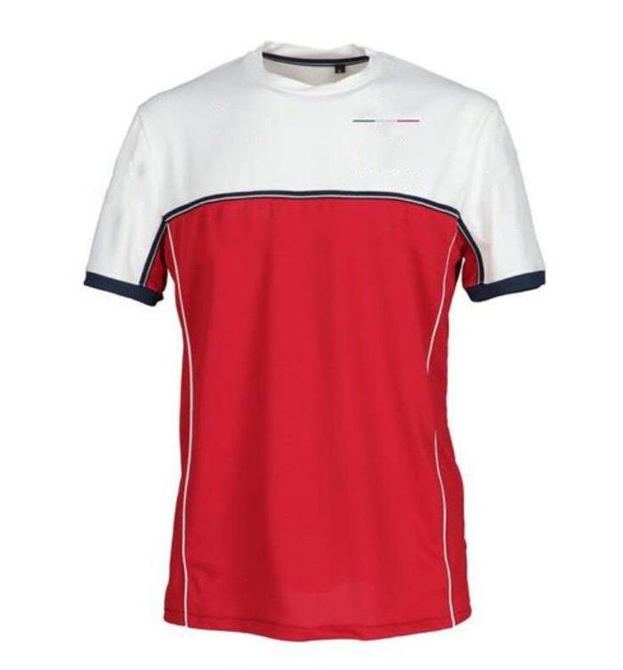 F1 Saisonteam Co-Branded Racing-Team Uniformen, Fan-Rundhals-Kurzarm-Schnelltrockner-T-Shirts, Auto-Overall-Logo kann angepasst werden