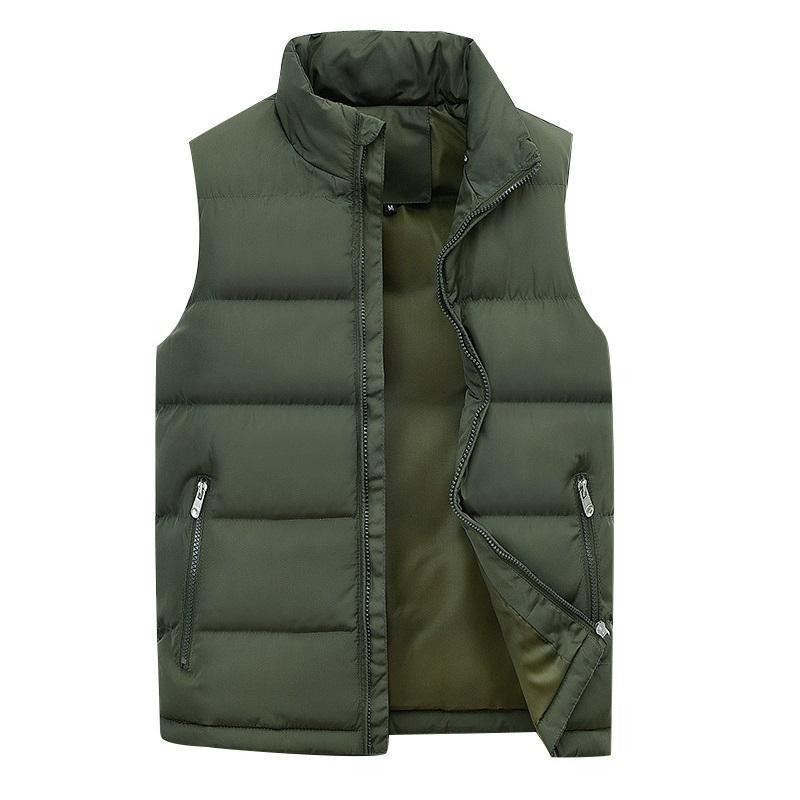 Chaleco de invierno masculinos para hombre chaquetas sin mangas 2020 de la nueva manera ocasional del algodón abajo chaleco chalecos abrigos calientes del otoño Outwear el tamaño extra grande