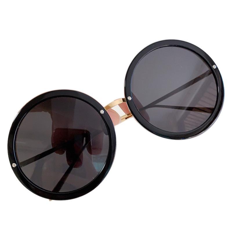 Gafas de sol de acetato de lujo UV400 Retro Eyewear Marco redondo Marco de diseño Hombres Ropa de vidrio con caja original DJNVF