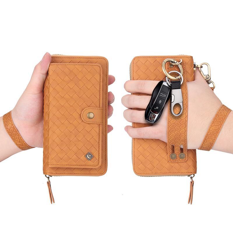 Saco de telefone padrão tecido para iphone12pro xr 11pro 7 plus 8 zipper carteira caso para Samsung S20