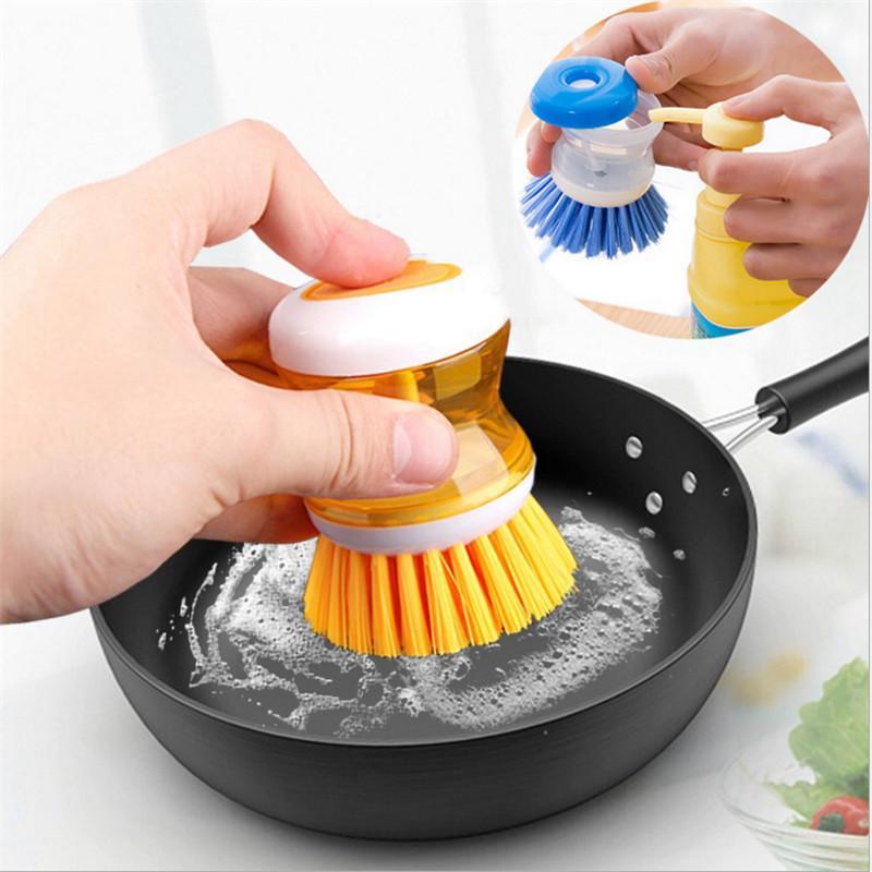 1шт Творческая кухня Аксессуары Многофункциональный не ушибить руку щетка для мытья посуды Кухня Кухня Гаджет
