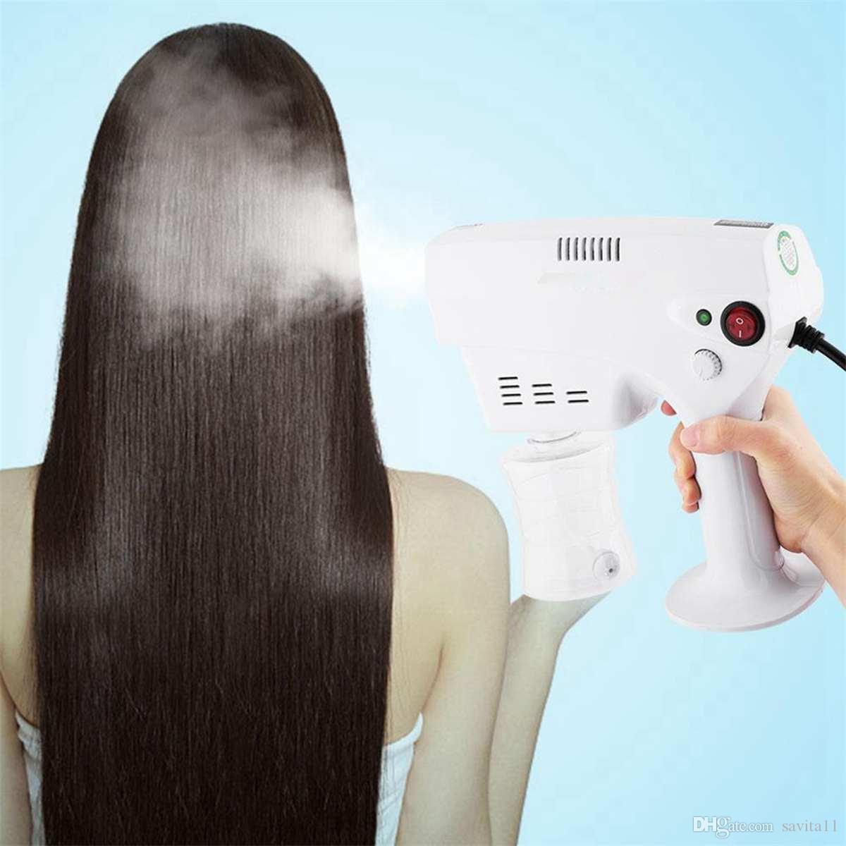 260 мл портативной дезинфекции синий свет паром распылитель для волос спрей для волос Аэрозоль Водяной туман триггерный распылитель SPA Спавоз