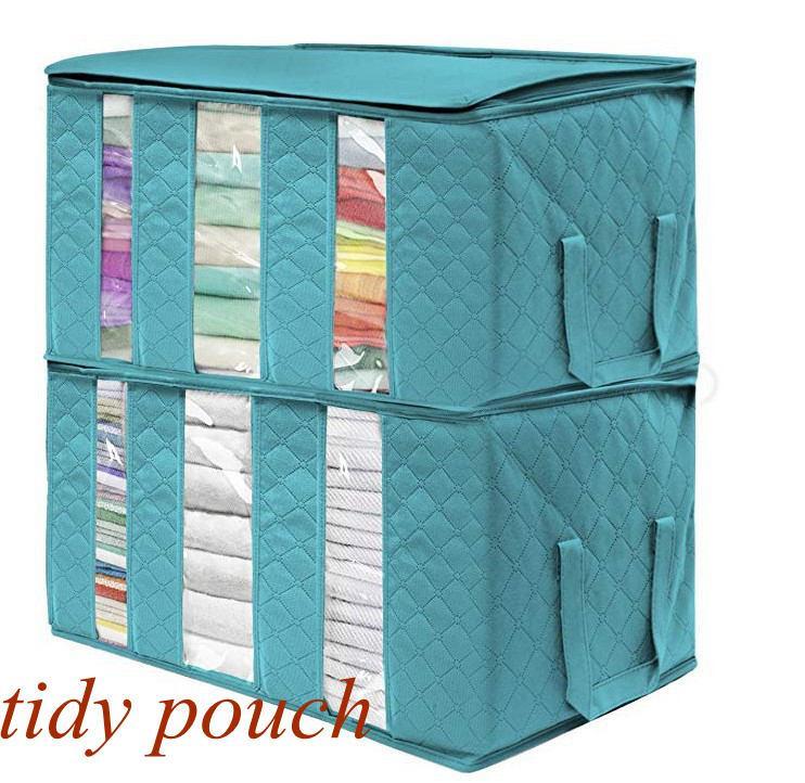 YFA2303 accessoriese Olmayan Dokuma Katlanabilir Saklama Kutusu Taşınabilir Giyim Organizatör Düzenli Kılıfı Bavul Ev Saklama Kutusu büyük kapasiteli Ev