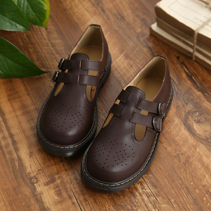 Jane Flat Shoes Meninas Sapatos Maria Sole Muscle Casual Fivela Casual Vaca Dupla Senhoras Academic ZY6641 MWPKT