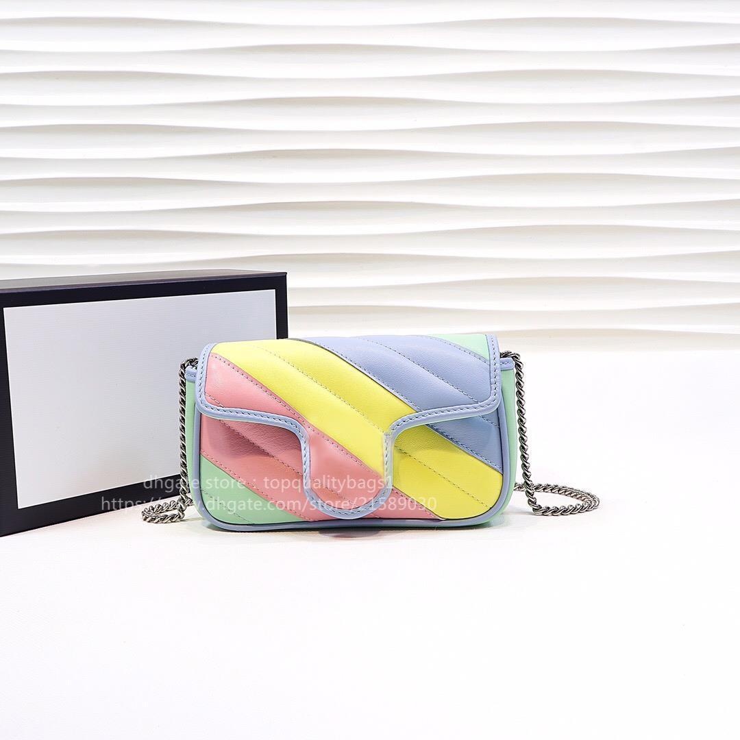 2021 New Hot Venduto Moda Genuine Pelle Pelle Top Quality Borsa a tracolla con scatola Donne Classic Crossbody Bag Size Mini 16,5 cm Shipin gratuito