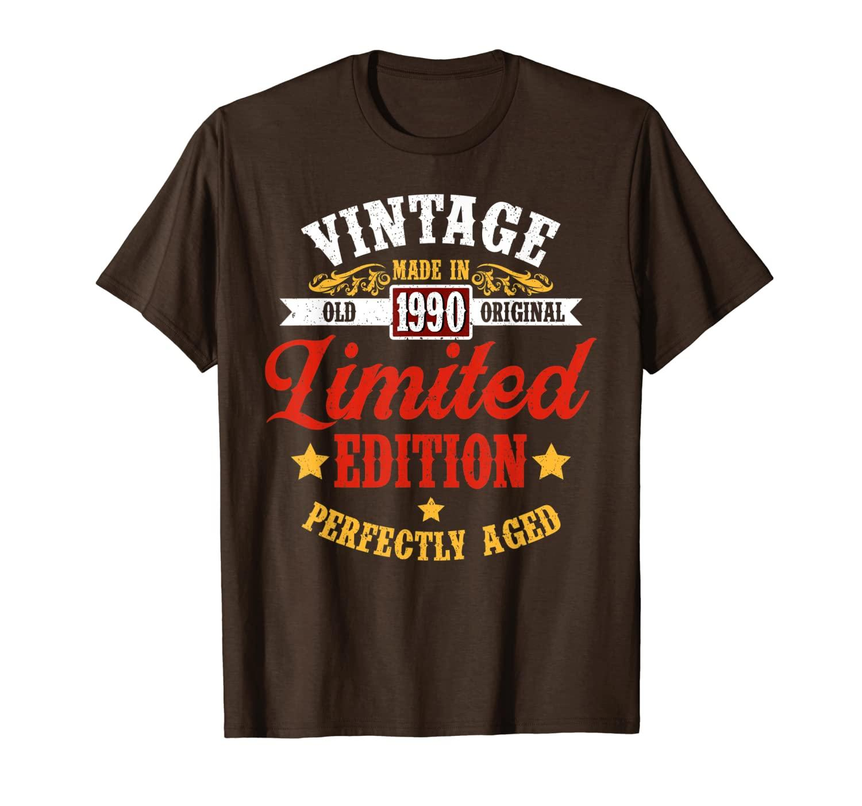 Vintage Made nel 1990 Edizione limitata T-shirt da regalo di compleanno