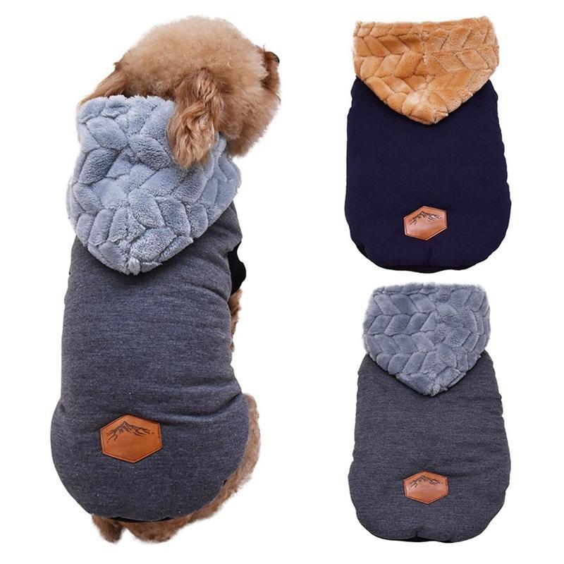 Animal de compagnie hiver vêtements petit chien épaissir gilet de coton à capuche de style britannique épaississement veste manteau veste chaude animal de compagnie vêtements
