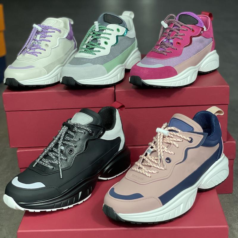 새로운 SHEGOES 러너 스니커 디자이너 남성 신발 최고 품질 분할 가죽 트레이너 메쉬 기술 직물 레이스 업 BOX 257와 러너 신발