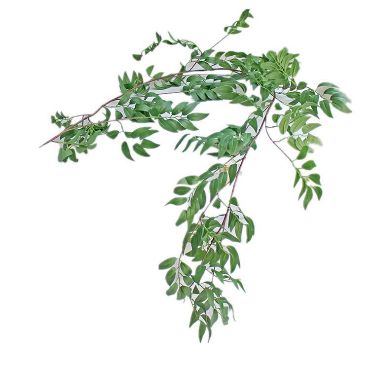 Dekorative Blumen 1,7m Simulation Willow Rebe Blatt Künstliche Pflanzen Gefälschte Wohnkultur Plastikblume Rattan Evergreen Cirrus