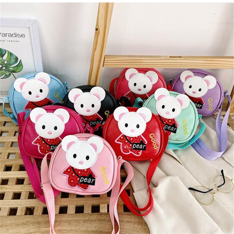 귀여운 미니 소녀 가방 패션 토끼 마우스 아이 가방 여자 어깨 가방 키즈 메신저 가방 아이 지갑 여자 지갑 어린이 가방