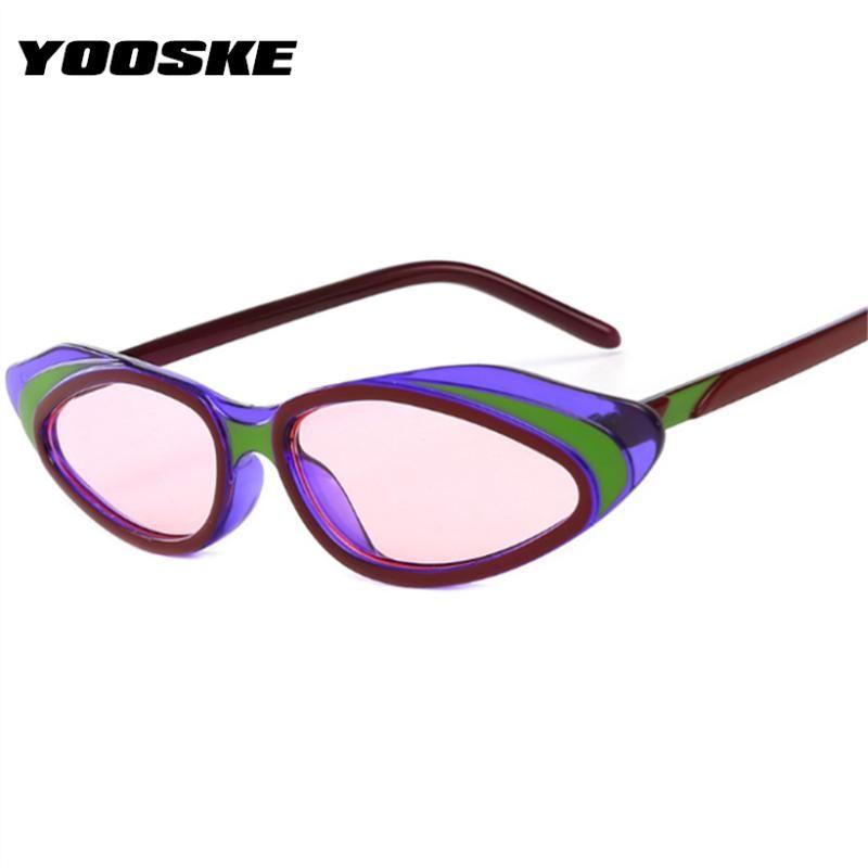 Женщины UV400 оттенки yooske маленькие солнцезащитные очки для глаз солнцезащитные очки очки дизайн роскошные нерегулярные дамы винтажные очки CAT старинные TFNGV