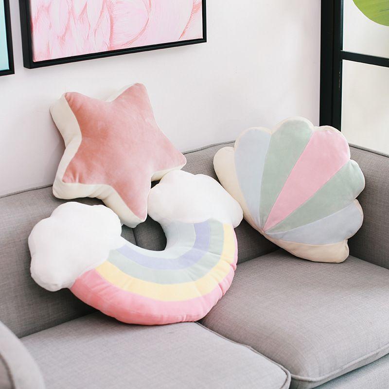 2020 Горячая распродажа звезда подушка изголовье радуга подушка луна творческая фаршированная игрушка девушка сердца подушка подарок девушка день рождения подарок