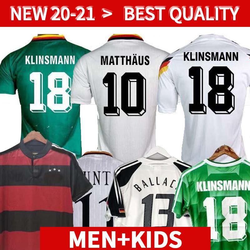 1990 1994 1988 Retro Littbarski Ballack Fussball Jersey Klinsmann Matthias 1998 2014 Hemden Kalkbrenner Football Jersey 1996 2004 Klose Möller
