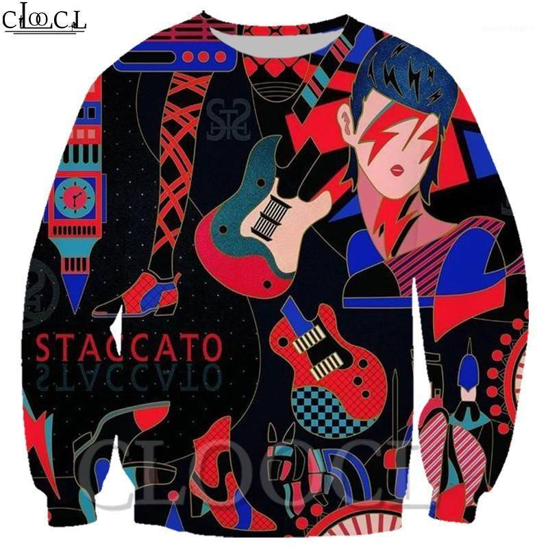 Cloocl Unisex Harajuku Sudaderas Populares 3D Hombres / Mujeres Streetwear Colorful Roll And Rock Hip Hop Streetwear Sweatshirt1