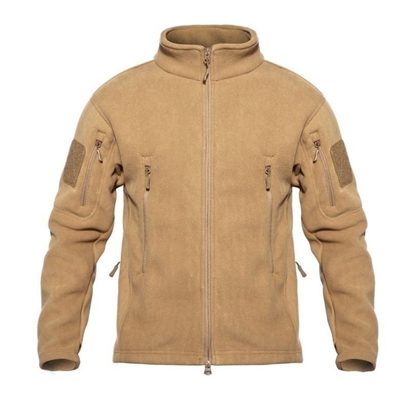 TAD inverno caldo pile tattico giacche tattiche uomo militare antivento addensare con ingombro multi-tasca con cappuccio casual con cappuccio cappotto abbigliamento 201127